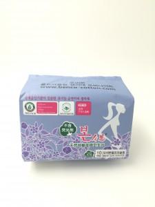 韓國有機純綿衛生巾 (夜用33cm)